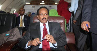 The President of Somalia, H.E. Mohamed Abdullahi Mohamed,