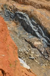 West Africa hosts good deposits for mining, but diamond mining put countries like Sierra Leone and Guinea on the map. In picture is the Kundu Central dyke in Sierra Leone. Image credit: Stellar Diamonds