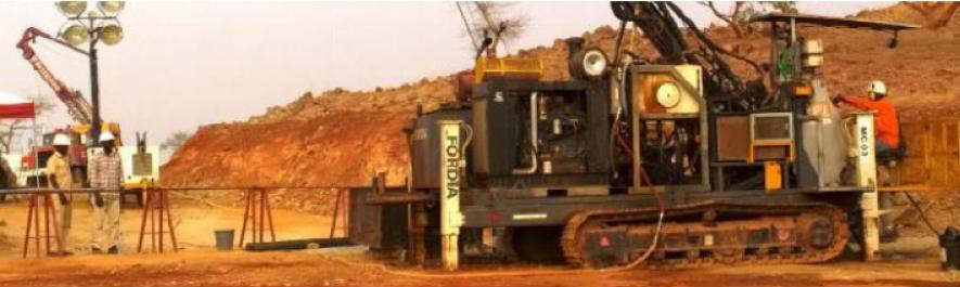 Burkina Faso - Work at Semafo's Boungou mine in Burkina Faso. Image credit:Burkina-e-mine.com