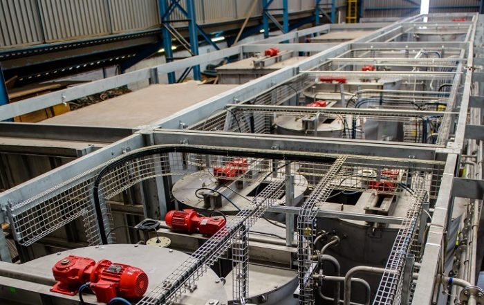 First drawdown for purification plant