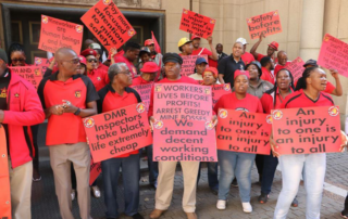 NUM members stating their voices during one of their campaigns. Image credit: NUM