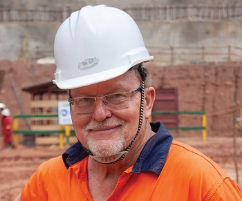 Richard Robinson, managing director of Alphamin Bisie Mining. Photo by Leon Louw
