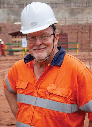 Richard Robinson, managing director of Alphamin Bisie Mining. Photo by Leon Louw