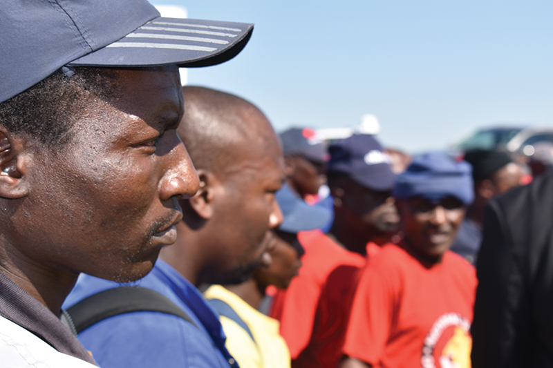Communities and workers around Africa are demanding better treatment and a bigger cut of the pie. Image credit: Leon Louw