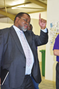 South African Minister of Mineral Resources Gwede Mantashe has been placed under pressure by community demands. Image credit: Leon Louw