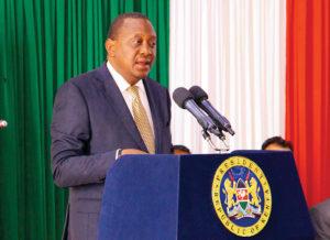 Pres. Uhuru Kenyatta of Kenya. Populism has resulted in the mobilisation of communities against mining companies. Image credit: Stock image