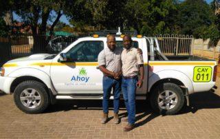 Thabo Valoyi and John Katjedi, directors of Ahoy Enterprises. Image credit: Anglo American Platinum