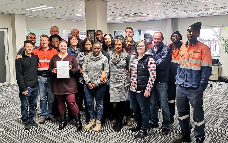 Boart Longyear's South African employees. Image credit: Boart Longyear