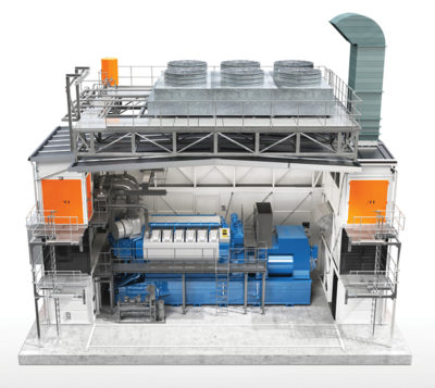 Wärtsilä Modular Block features pre-fabricated, expandable enclosures for sustainable power generation. Image credit: Wärtsilä