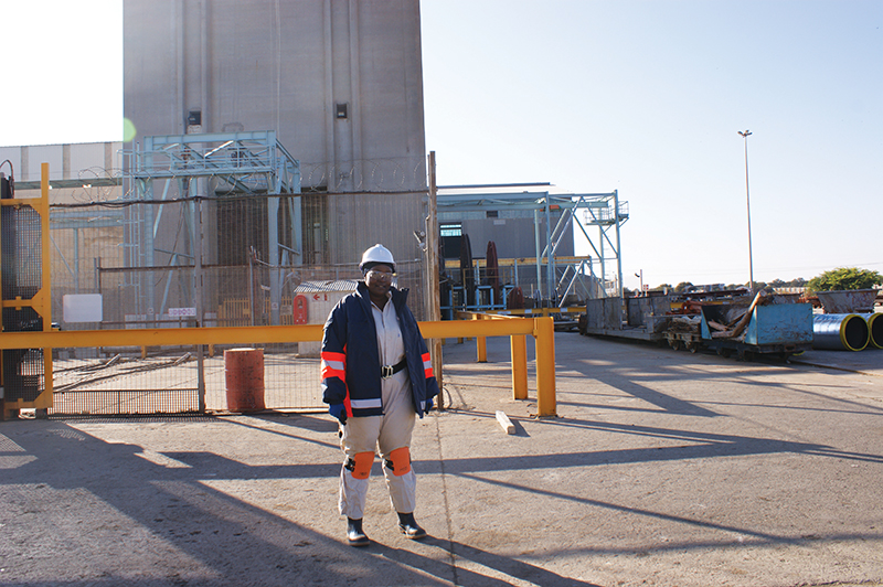 Fhulufhelo Muthelo is an ore reserve manager at Harmony Gold's Masimong mine in the Free State. Image credit: Harmony