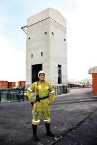 Prianka Padayachee is a face-boss at Anglo American Coal's Zibulo Colliery in South Africa. Image credit: Anglo American Coal