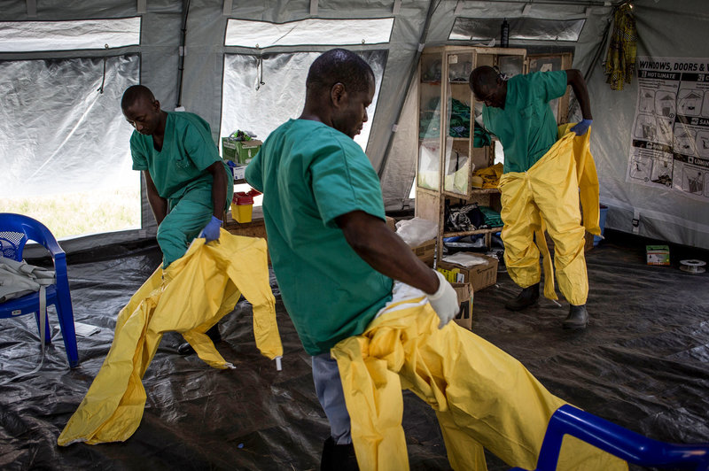 Health workers fighting the Ebola outbreak in the eastern part of the DRC. Image credit: npr.com