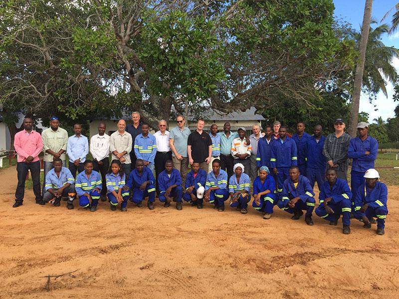 The Savanna Resources team in Mozambique. Image credit: Savanna Resources