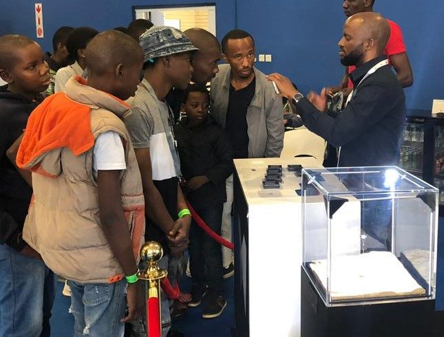 The Okavango Blue Diamond Company (ODC) exhibit at the recent 2019 Botswana Consumer Trade Fair allowed the public to interact with several natural diamonds on the stand. Visitors could also see an exact replica of the world-renowned Okavango Blue diamond, Botswana's biggest-ever blue diamond, on display. Image credit: ODC