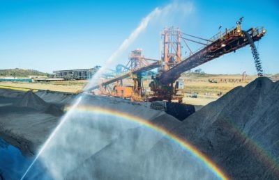 Reclaimer at work Moatize Coal Mine's stocking yard. Image credit: Marcelo Coelho / Vale