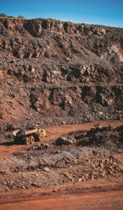 Although Afrimat prefers to own all the mining equipment, they do hire some yellow metal at Demaneng.