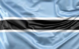 Botswana flag. Freepik