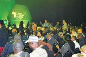 Delegates at the 2020 Investing in African Mining Indaba.