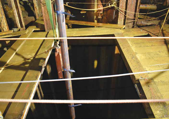 At Orion Minerals' Prieska Copper and Zinc project in the Northern Cape province of South Africa, the historic shaft has been submerged for a number of years. Image credit: Leon Louw