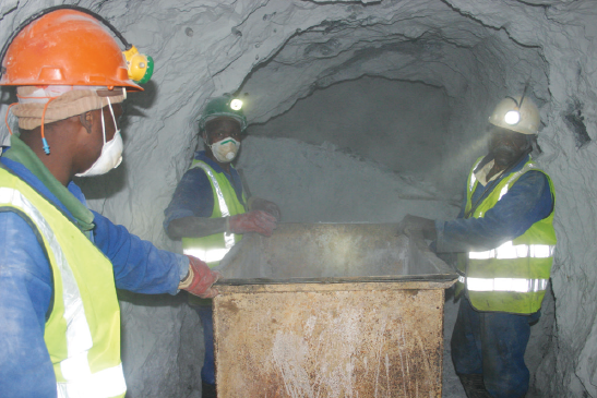 Mining companies will have to rethink old methods of mining in which manual labour played an important role. Image credit: Leon Louw