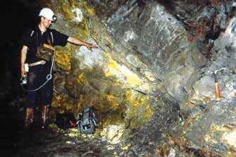 Oklo natural reactor as seen in underground mining operations. Image credit: US Department of Energy