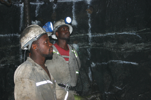 The question is whether mining companies will be able to manage the health requirements like social distancing when workers venture underground into confined spaces. Image credit: Leon Louw