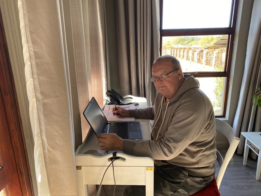 Nico Pienaar of ASPASA, Nico working from home.