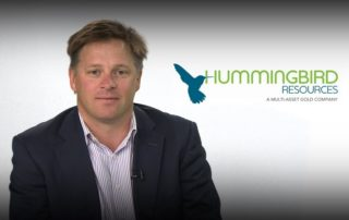Dan Betts, CEO of Hummingbird Resources. Image credit: Central Charts