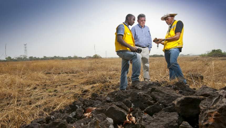 Kogi Iron's team doing test work in Nigeria. Image credit: Kogi Iron