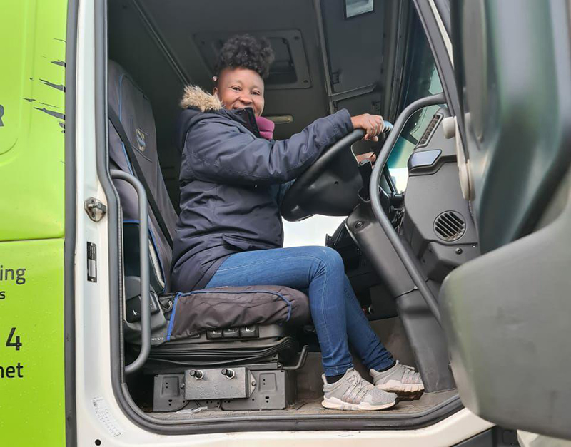 Women are increasingly being employed as truck drivers. Image credit: Innovative Learning Solutions
