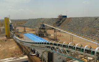 A conveyor belt at Endeavour's Boungou gold mine Burkina Faso. Image credit: Endeavour Mining