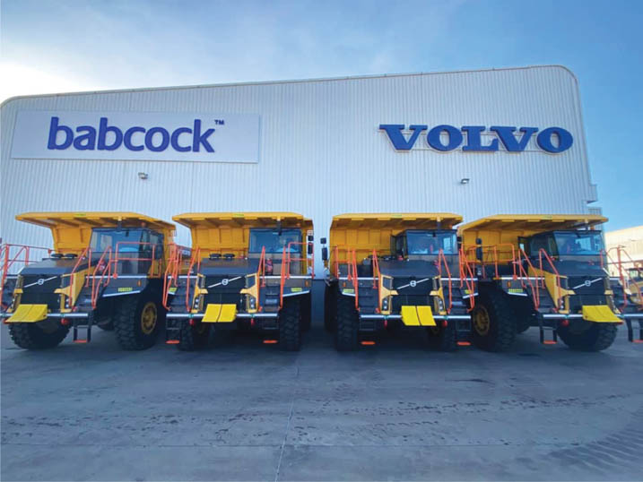 Atlantis Mining recently purchased eight new Volvo R60D rigid haulers. Image credit: Babcock