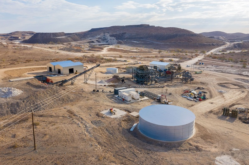 AfriTin Mining's Uis project in Namibia remains on track to reach phase one nameplate production later this year. Image credit: AfriTin