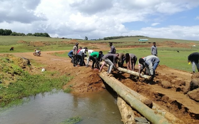 Megado gold is building a small river crossing in Ethiopia. Image credit: Megado Gold