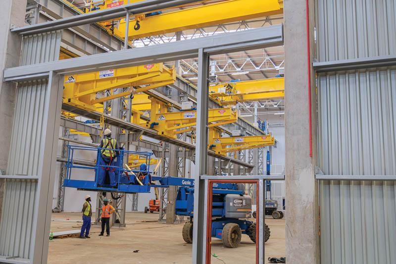 RGM Cranes at Komatsu's new remanufacturing facility in Edenvale. Image credit: RGM Cranes