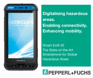 The new Smart-Ex® 02 is the next generation of rugged, intrinsically safe smartphones for hazardous areas and harsh industrial environments from the Pepperl+Fuchs brand ecom. Developed completely in-house, the smartphone has a large 5-inch display, an ergonomic design, advanced features, and optimized accessories, making digital applications mobile beyond company boundaries. Global frequency bands and certifications, along with a high-performance operating system, allow users a wide range of applications worldwide.