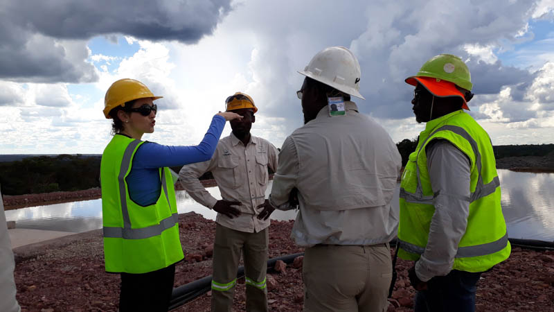 Women can be proud of contributing to the mining industry's development. Image credit: SRK Consulting