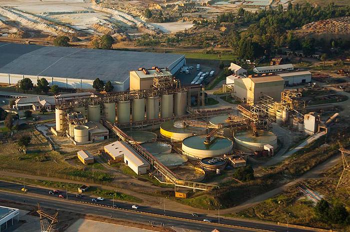 DRDGOLD's Ergo processing plant, east of Johannesburg. Image credit: DRDGOLD