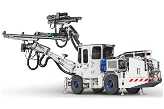 The 'Face Master 2.3' is a twin boom drill rig. Image credit: Mine Master