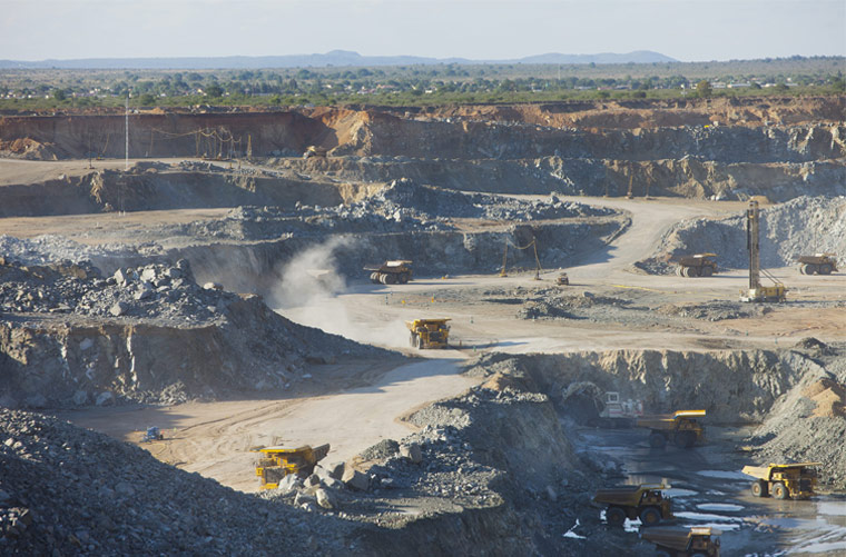 Anglo American Platinum's Mogalakwena open pit platinum mine in the Limpopo province of South Africa. Photo by Anglo American Platinum