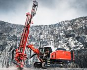 The Sandvik Leopard DI650i is an intelligent down-the-hole drill rig, designed for demanding high-capacity production drilling applications in surface mining as well as large-scale quarry applications. Image credit: Sandvik