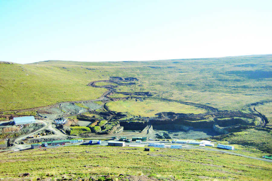 Lucapa Diamond Company and its partner, the Government of the Kingdom of Lesotho, are expanding the Mothae diamond mine in Lesotho. Photo by The Diamond Loupe