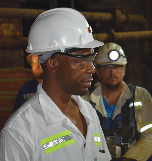 Walter Shamu (left) , COO at Orion Minerals. Photo by ©Leon Louw