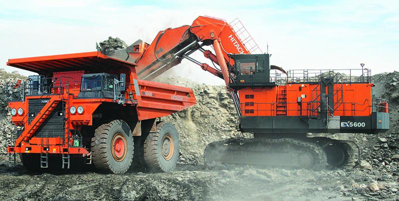 Hitachi's electric drive hydraulic excavator. Photo by ABB