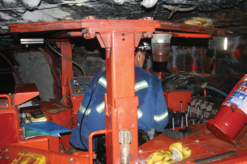 Underground, South African gold mines are getting deeper and more difficult to mine. Photo by ©Leon Louw