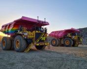 Newmont's autonomous truck fleet. Photo by Newmont
