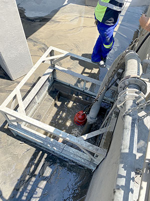 The hard-working Grindex Bravo 600 submersible slurry pump has replaced under-performing products at two mine sites in Limpopo and North West provinces. Photo by Integrated Pump Technology