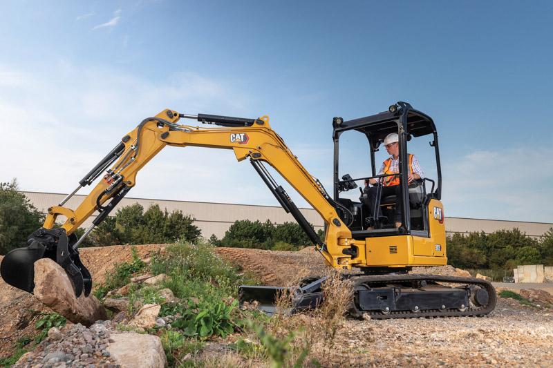 Caterpillar's new mini hydraulic excavator improves efficiencies. Photo by Caterpillar