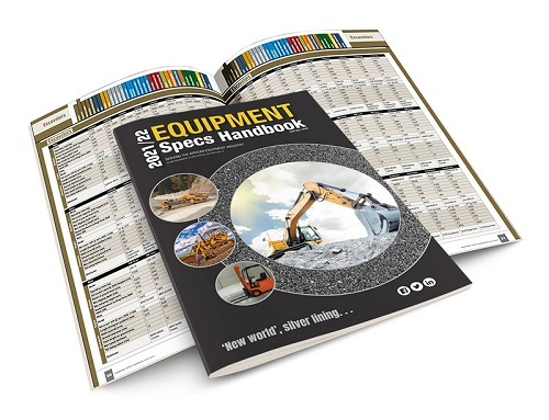 The Equipment Specs Handbook 2021/22, your go-to manual for mining, construction and quarry equipment. Image: Interact Media Defined